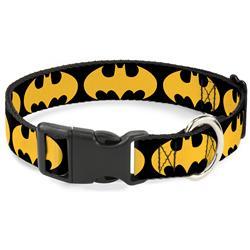 Plastic Clip Collar - Bat Signal-1 Black/Yellow