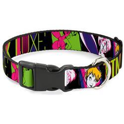 Plastic Clip Collar - TINK LUXE Sketch Black/Multi Neon