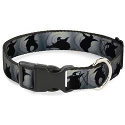 Plastic Clip Collar - Oogie Boogie Silhouette Poses Gray/Black