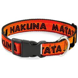 Plastic Clip Collar - Lion King HAKUNA MATATA Sunset Oranges/Black