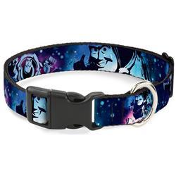 Plastic Clip Collar - Buzz Lightyear Poses Galaxy Blues