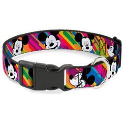 Plastic Clip Collar - Mickey Mouse Expressions Multi Color White/Black