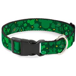 Plastic Clip Collar - St. Patrick's Day Mickey Collage Greens