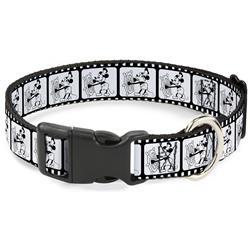 Plastic Clip Collar - Steamboat Willie Scenes Film Strip White/Black