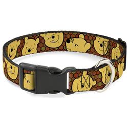Plastic Clip Collar - Winnie the Pooh Expressions/Honeycomb Black/Browns