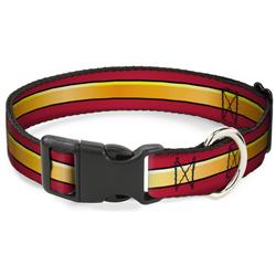Plastic Clip Collar - The Flash Stripe Burgundy/Gold