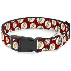 Plastic Clip Collar - Flash Logo Scattered Red/White/Yellow