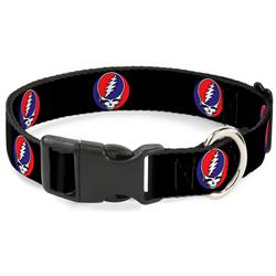 Plastic Clip Collar - Steal Your Face Repeat Black/Color