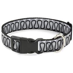 Plastic Clip Collar - Harley Quinn's Collar Ruffle White/Black