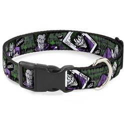 Plastic Clip Collar - The Joker 4-Poses/Joker Card HAHA/Smile/BANG! Grays/Greens/Purples