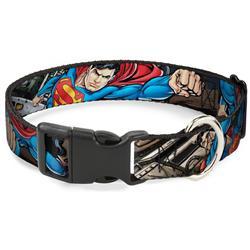 Plastic Clip Collar - Superman Metropolis Face-Off