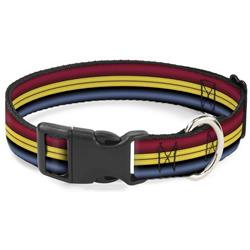 Plastic Clip Collar - Captain Marvel Stripe Red/Gold/Blue