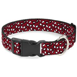 Plastic Clip Collar - Spider-Man Eyes/Spiders Scattered Reds/Black/White