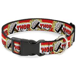 Plastic Clip Collar - THOR & Hammer Red/Yellow/White