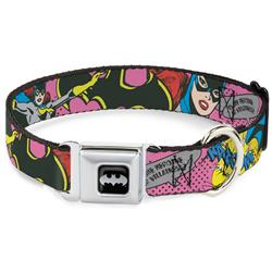 Batman Black/Silver Seatbelt Buckle Collar - BATGIRL-IS SHE HERO OR VILLAIN? w/Batgirl in Action