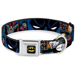 Batman Black/Yellow Seatbelt Buckle Collar - Batman & Joker Comic Strip