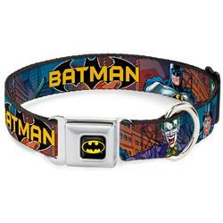 Batman Black/Yellow Seatbelt Buckle Collar - BATMAN & Villains2/Cityscape