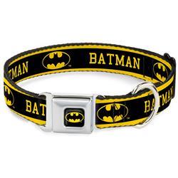 Batman Black/Yellow Seatbelt Buckle Collar - BATMAN/Logo Stripe Yellow/Black