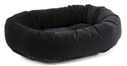 Donut Bed Ebony Microvelvet