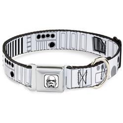 Star Wars Stormtrooper Face Full Color White/Black/Grays Seatbelt Buckle Collar - Star Wars Stormtroopers Utility Belt2 Bounding White/Grays/Black