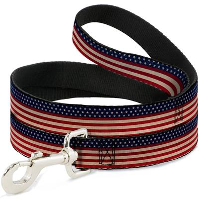 Dog Leash - American Flag Stripe