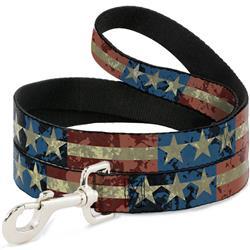 Dog Leash - Americana Vintage Stars & Stripes
