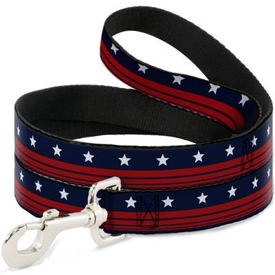 Dog Leash - Americana Stars & Stripes4 Blue/White/Red