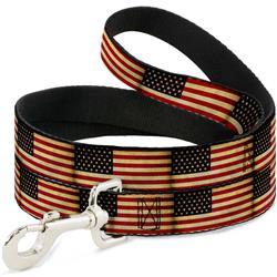 Dog Leash - Vintage US Flag Repeat