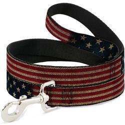 Dog Leash - Vintage US Flag Stretch