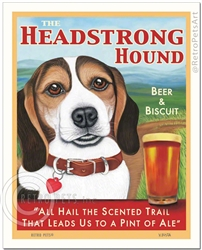 The Headstrong Hound Beer & Biscuit (Tri-color Beagle)