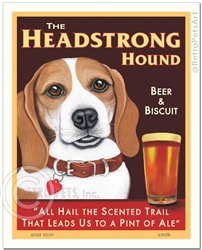 The Headstrong Hound Beer & Biscuit (Tan & White Beagle)