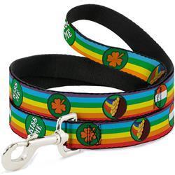 Dog Leash - St. Pat's Rainbow/Coins