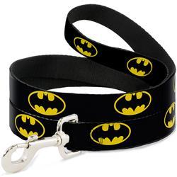 Dog Leash - Batman Shield Black/Yellow