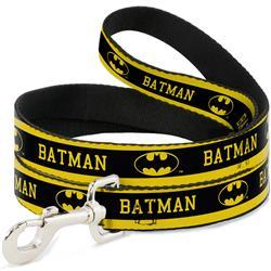 Dog Leash - BATMAN/Logo Stripe Yellow/Black