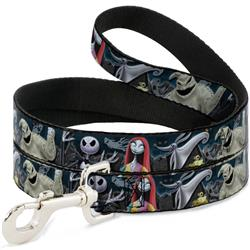 Dog Leash - Nightmare Before Christmas 4-Character Group/Cemetery Scene