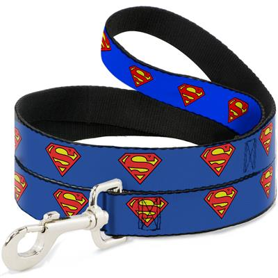 Dog Leash - Superman Shield Blue