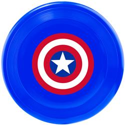 Dog Toy Frisbee - Captain America Shield Blue Red White