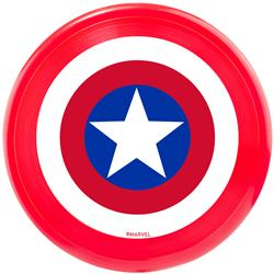 Dog Toy Frisbee - Captain America Shield Red White Blue White