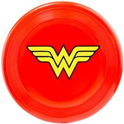 Dog Toy Frisbee - Wonder Woman Logo Red Yellow
