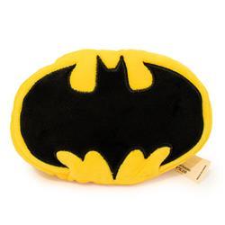 Dog Toy Squeaky Plush - Batman Bat Icon Yellow Black