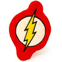 Dog Toy Squeaky Plush - Flash Icon Red White Yellow