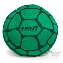 Dog Toy Squeaky Plush - TEENAGE MUTANT NINJA TURTLES Turtle Shell + Logo Greens Red White