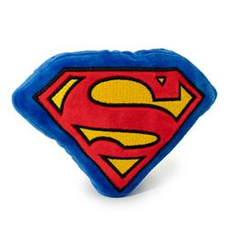 Dog Toy Squeaky Plush - Superman Shield Blue Red Yellow