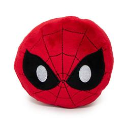 Dog Toy Squeaky Plush - Spider-Man Face Emoji Red Black White