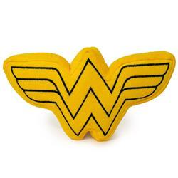 Dog Toy Squeaky Plush - Wonder Woman Logo Icon Yellow Black