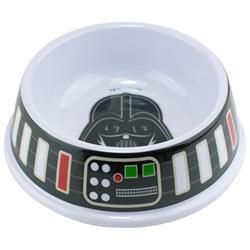 Single Melamine Pet Bowl - 7.5 (16oz) - Star Wars Darth Vader + Utility Belt Bounding Black Gray Multi Color