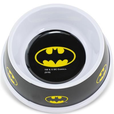 Single Melamine Pet Bowl - 7.5 (16oz) - Batman Shield Black Yellow