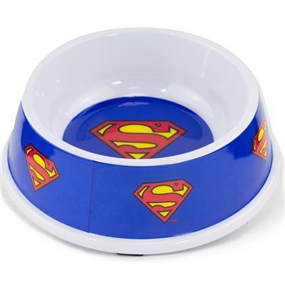 Single Melamine Pet Bowl - 7.5 (16oz) - Superman Shield Blue