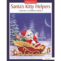 Santa's Kitty Helpers Coloring Book