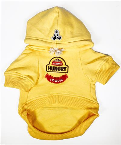 Hoodie with Always Hungry & Foodie Patches